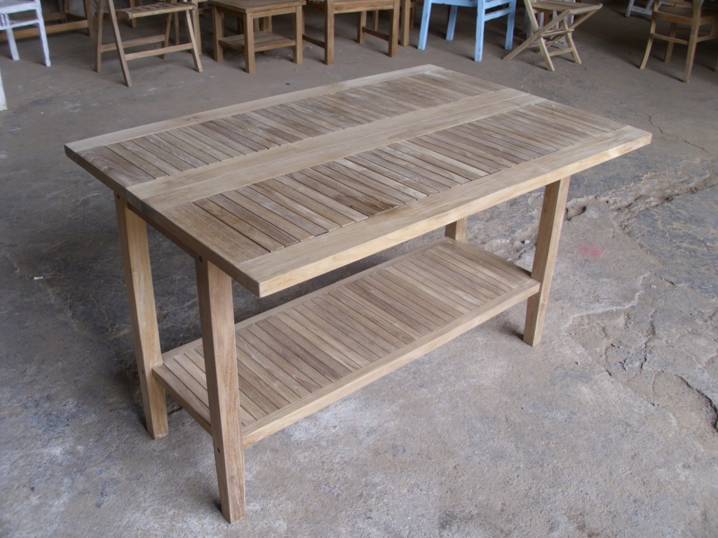 Teak Console Table 120 cm