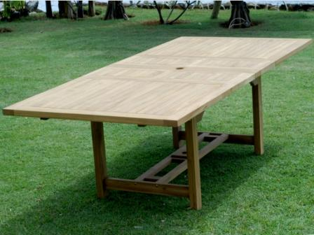 Teak Extention Table 180 - 240 x 100 with double leaf