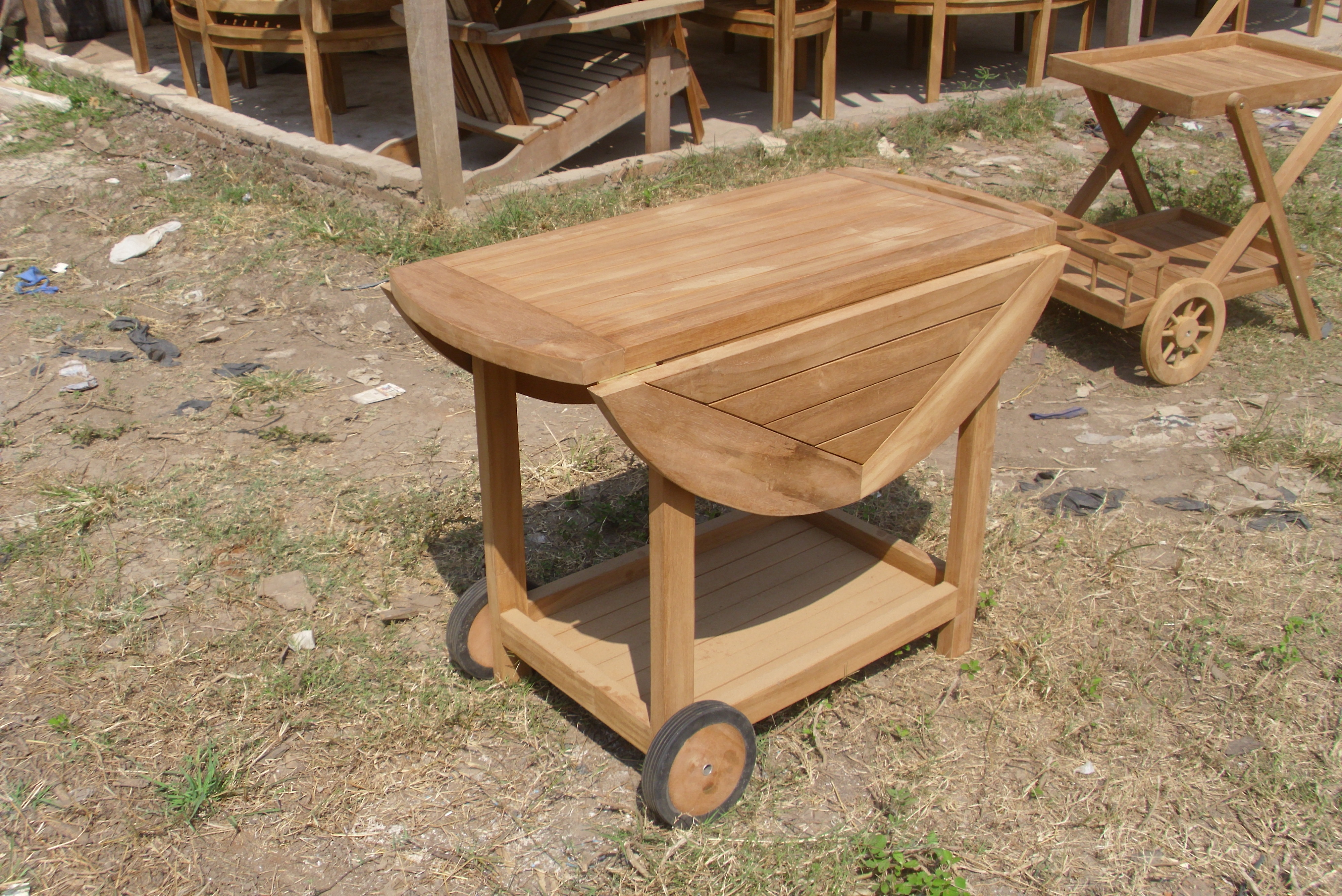 Teak butterfly Trolly