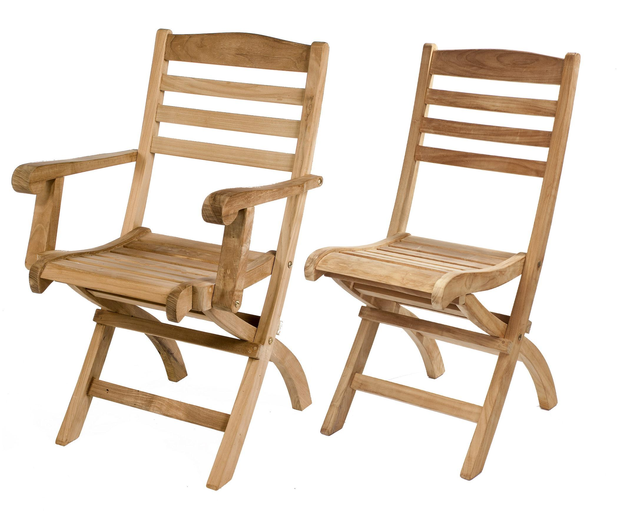 Teak Cumbira folding chair set